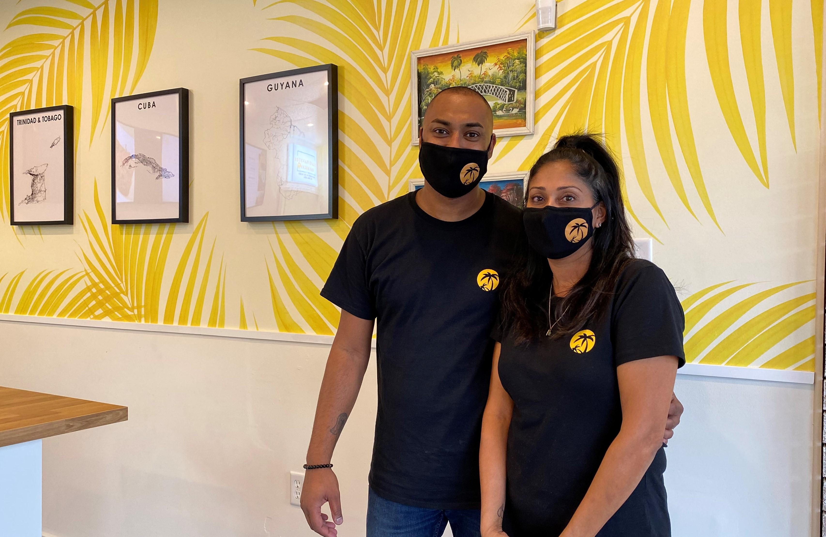 Nazeema and her husband Island Flavours Caribbean