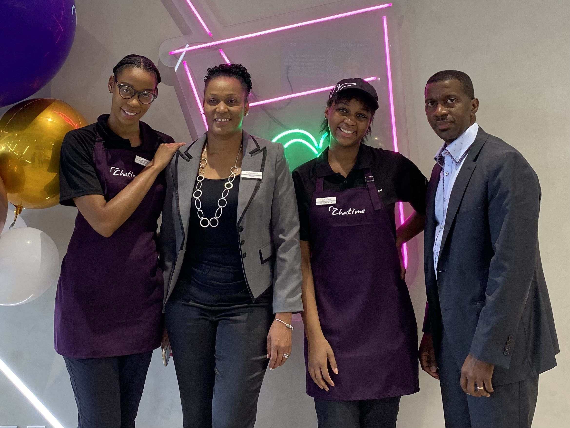 Chatime owners Dovelin, Allison and family